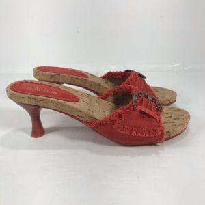 NWOB Kenneth Cole Reaction kitten heel sandals 8M